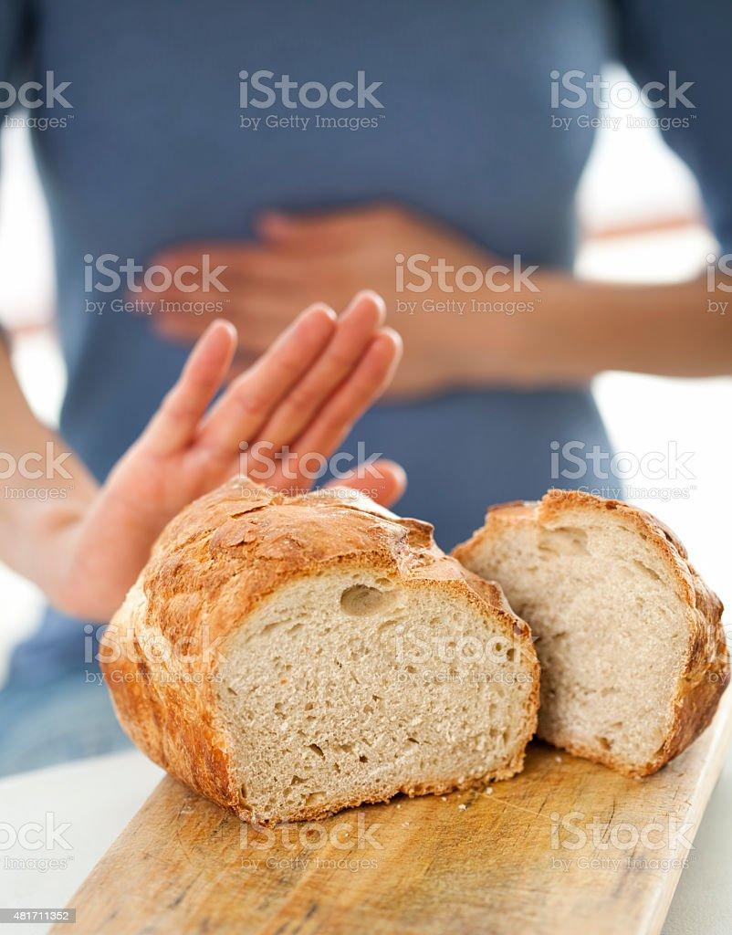 Gluten free concept: No bread, please stock photo