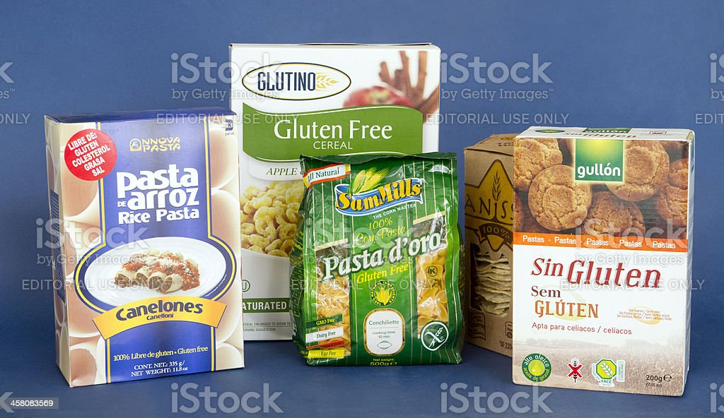 Gluten Free Diet Products stock photo