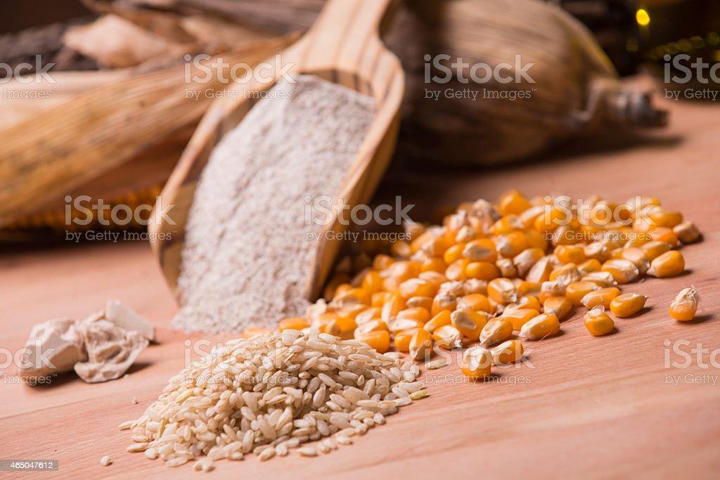 Gluten free ingredients stock photo