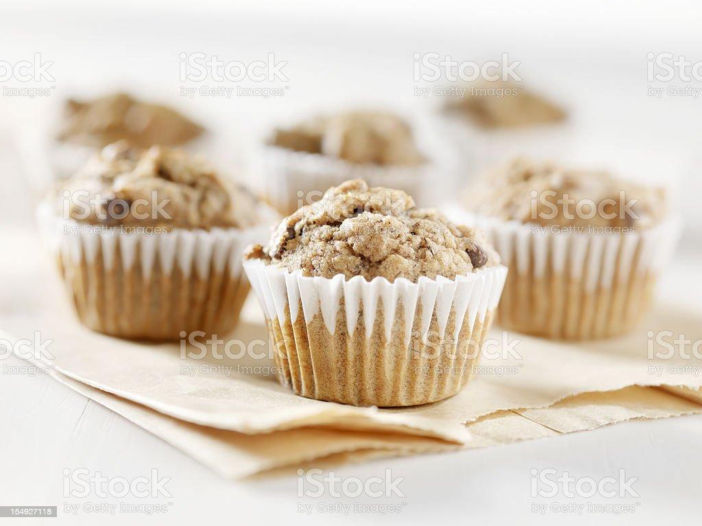 Gluten Free, Mini Chocolate Chip and Banana Muffins royalty-free stock photo