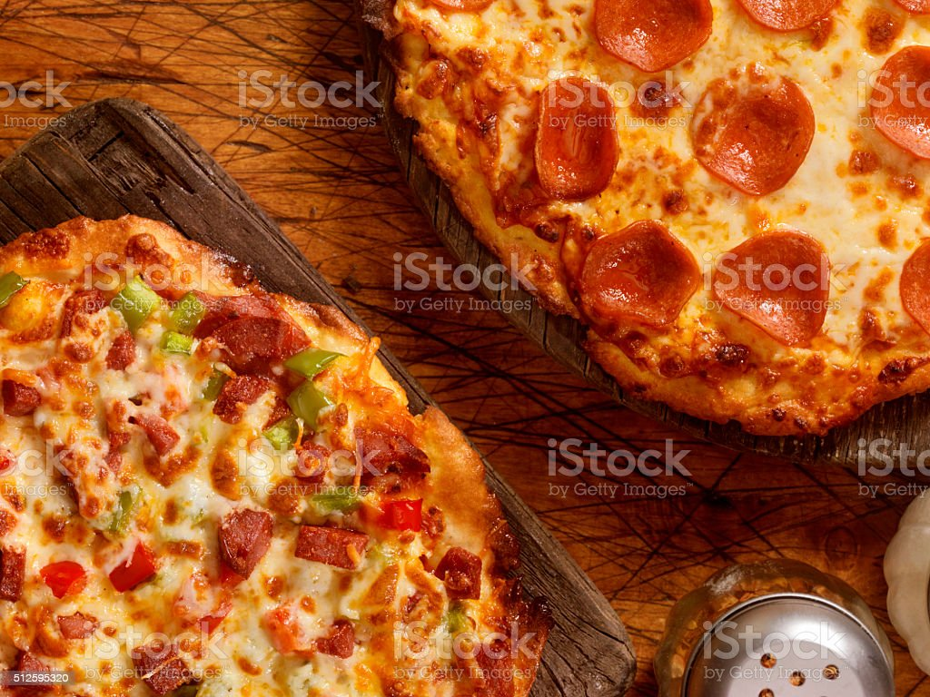 Gluten Free Pizzas stock photo