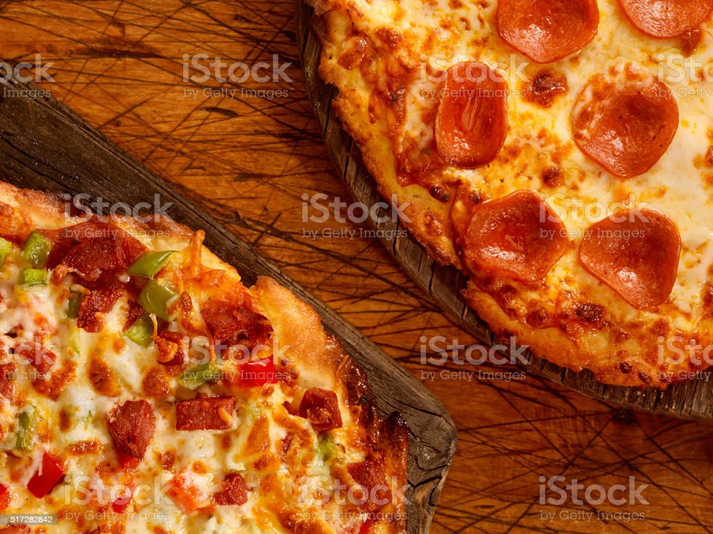 Gluten Free Pizzas stock photo