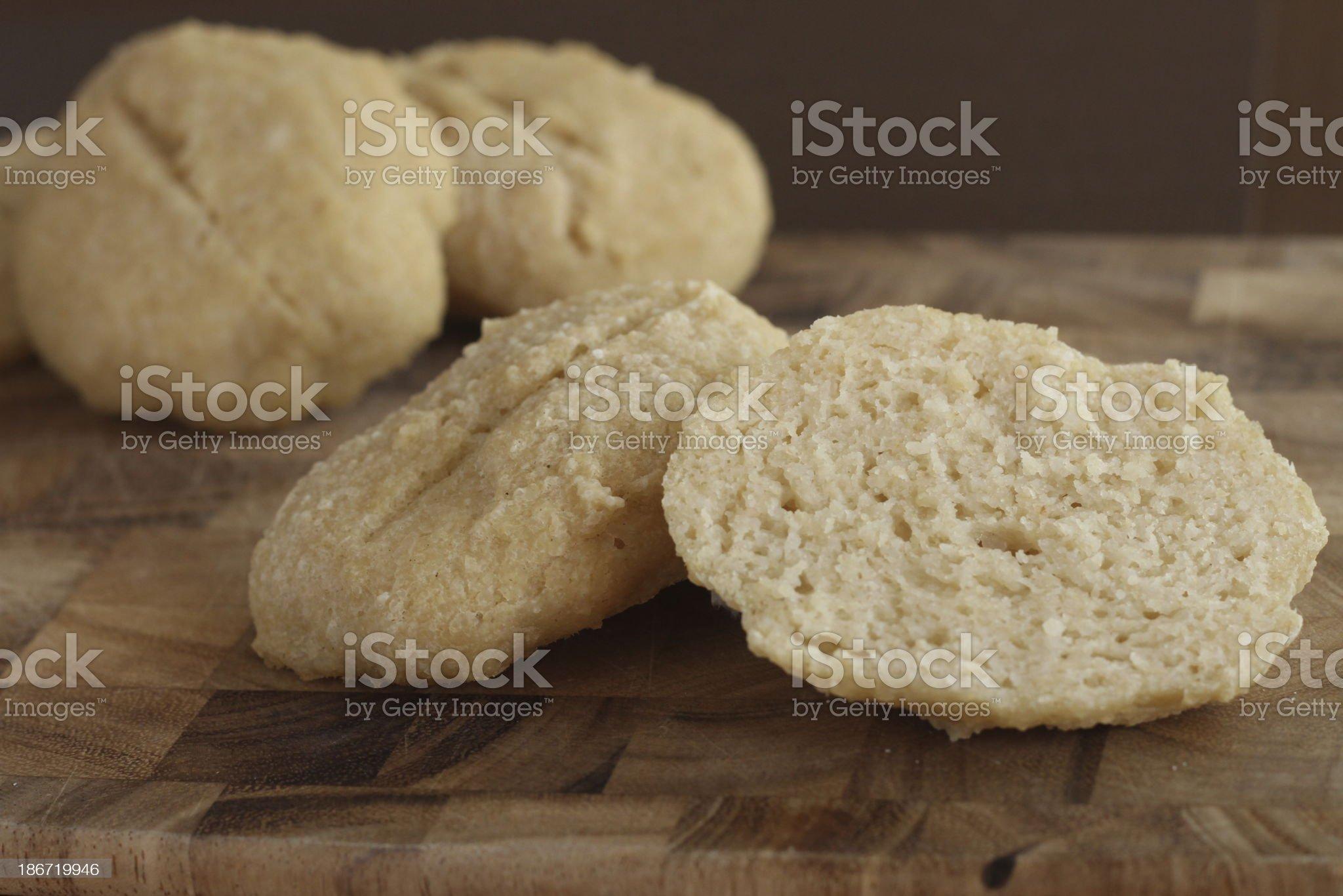 Gluten Free Sourdough Rolls royalty-free stock photo