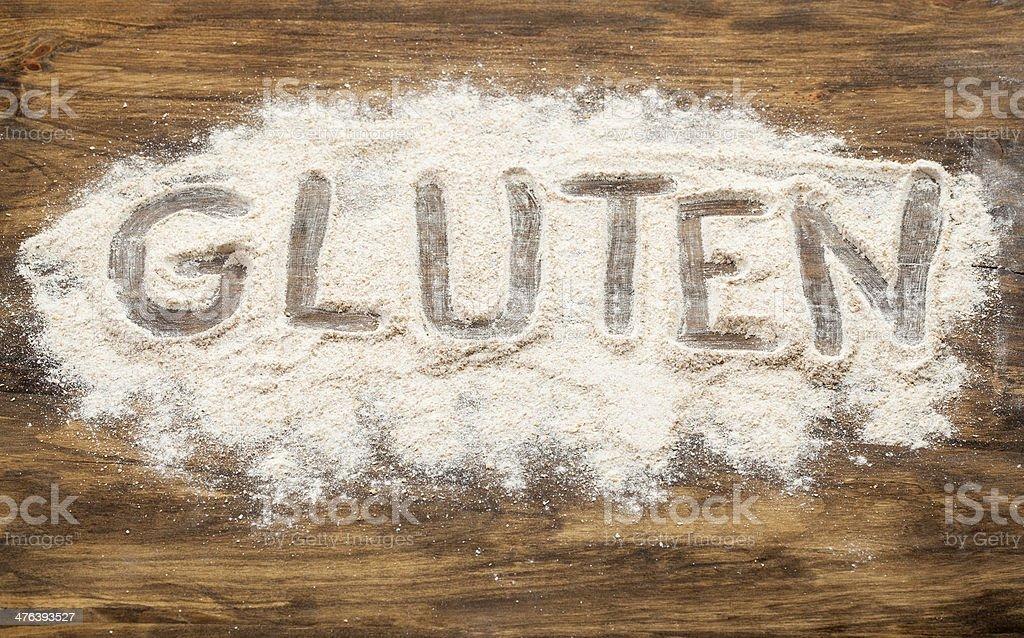 gluten word stock photo