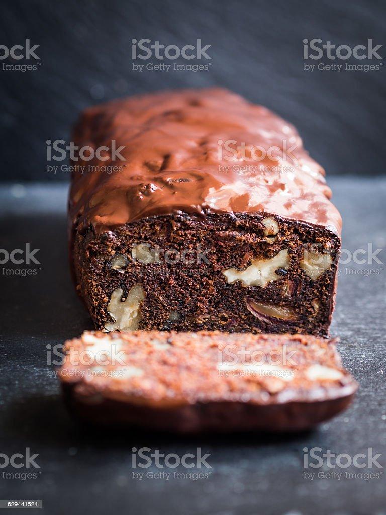 Gluten-free flourless chocolate cake stock photo