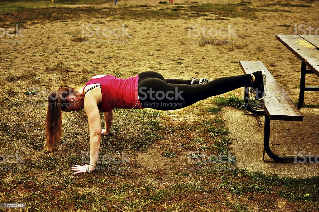 Glutes in the park stock photo