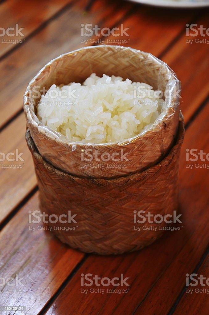 Glutinous or Sticky Rice stock photo