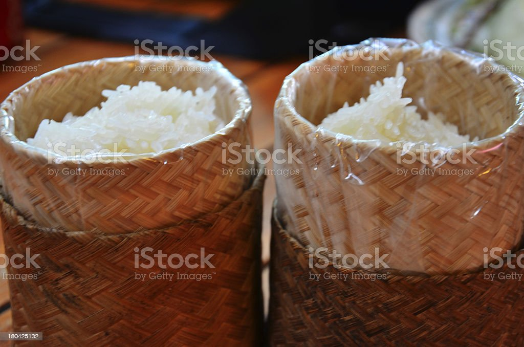 Glutinous or Sticky Rice royalty-free stock photo