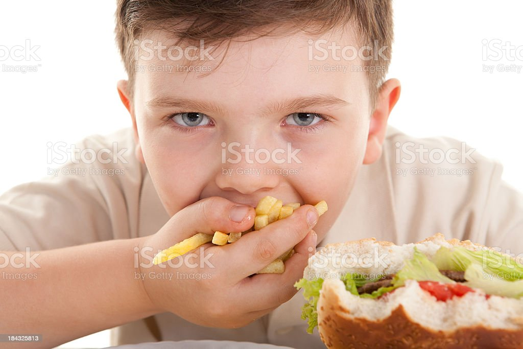 Glutton Child royalty-free stock photo