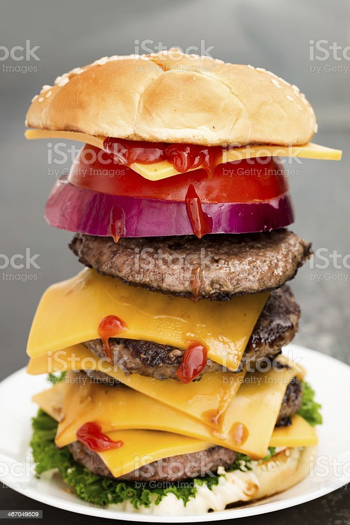 Glutton's Dream Burger royalty-free stock photo