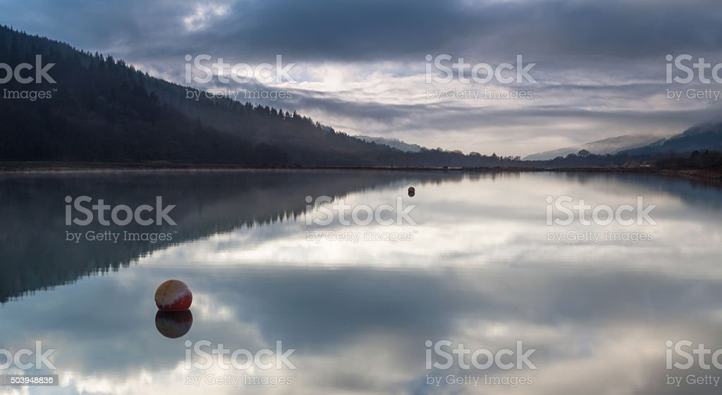 Glynneath lakes South Wales stock photo