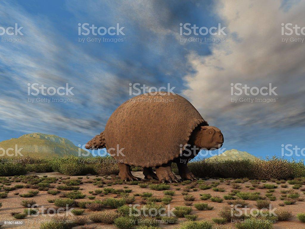 Glyptodon stock photo