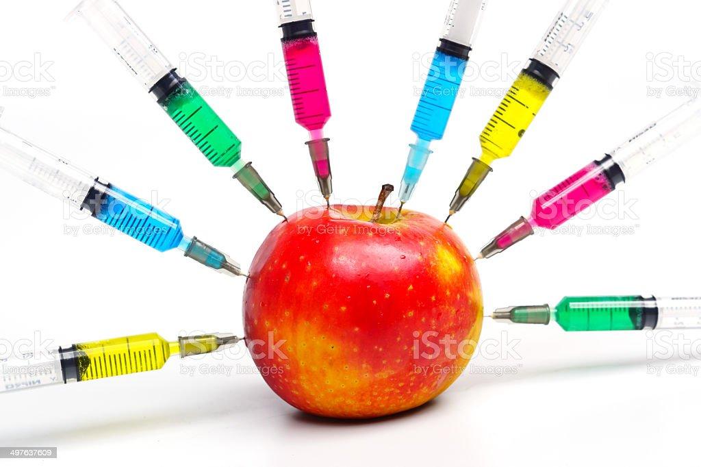 gmo apple stock photo