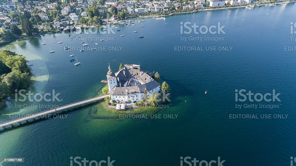 Gmunden In Austria, Schloss Orth am Traunsee stock photo