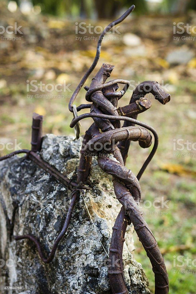 Gnarled iron royalty-free stock photo