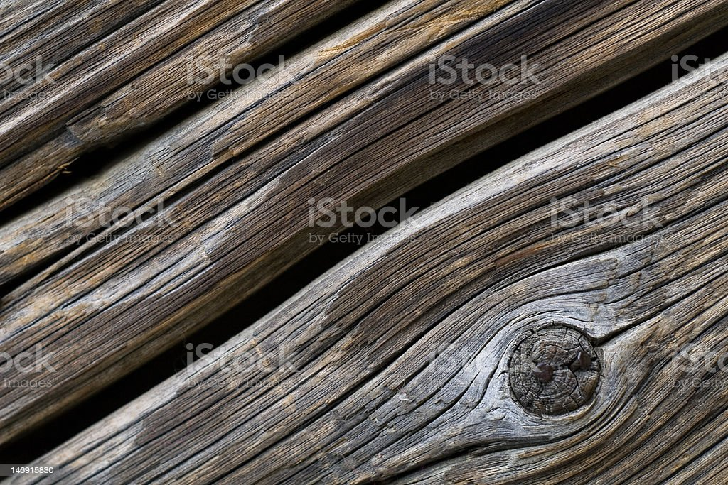 Gnarled Old Door royalty-free stock photo