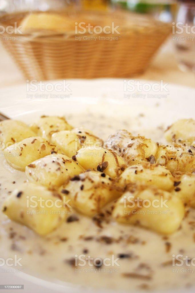 Gnocchi al tartufo stock photo