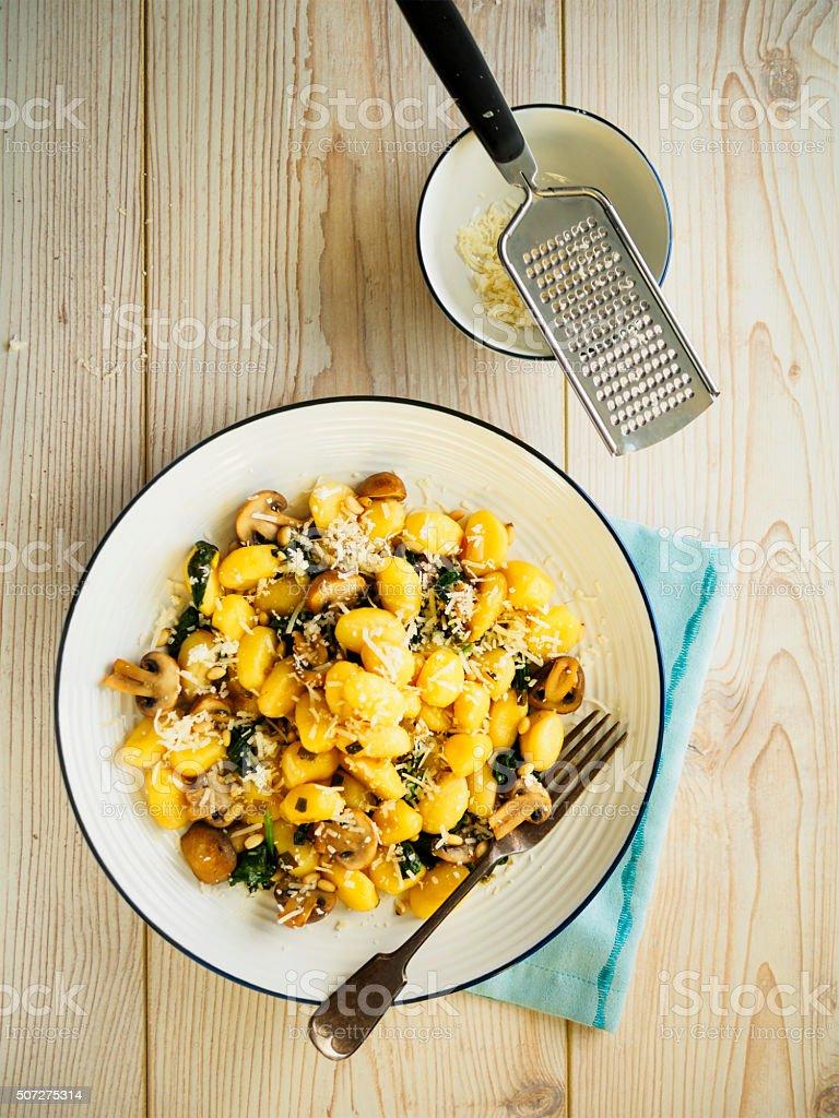 Gnocchi dish stock photo