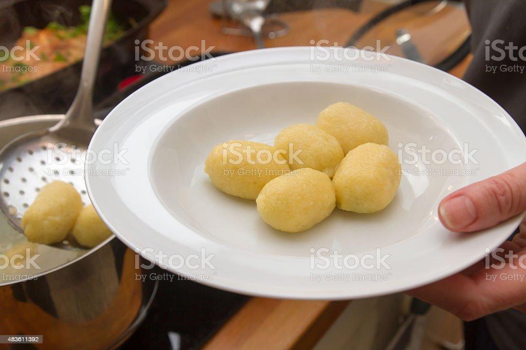 Gnocchi stock photo