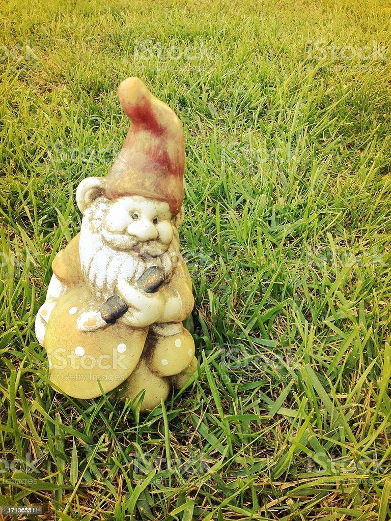 Gnome in Grass stock photo