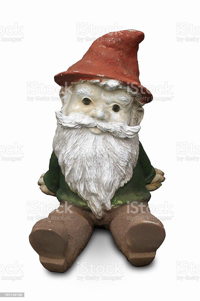 Gnome sitting stock photo