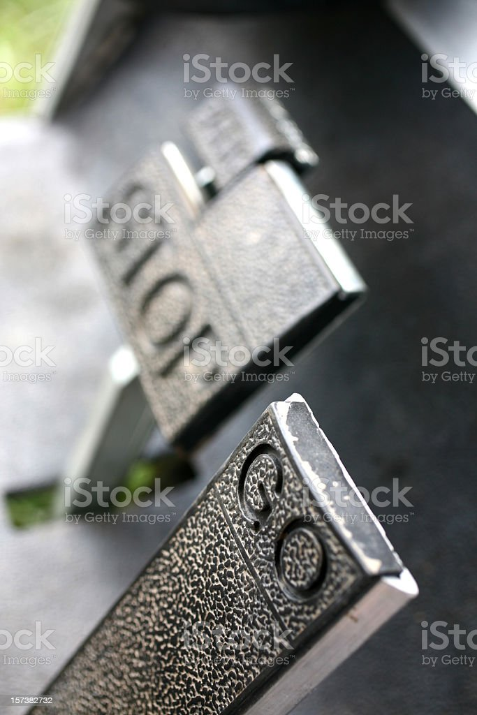Go and Stop Pedals stock photo