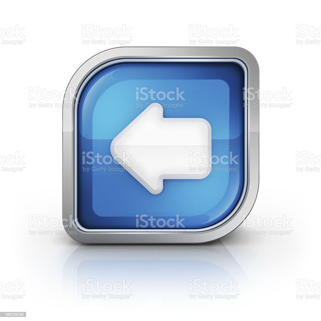 go back or left side icon royalty-free stock photo