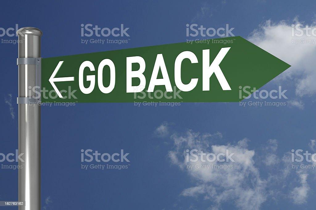 Go Back! stock photo