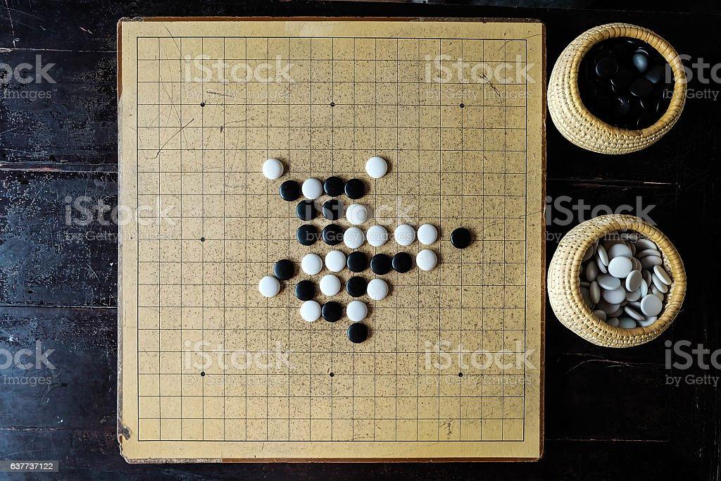 Go board game stock photo