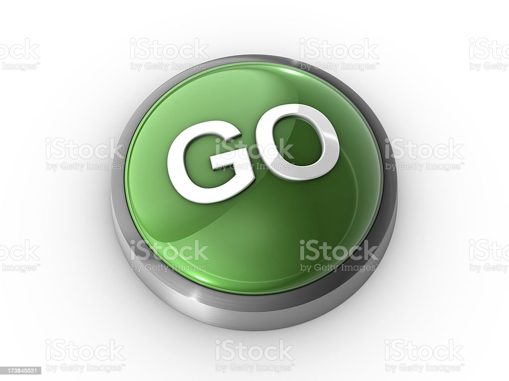 Go Button royalty-free stock photo