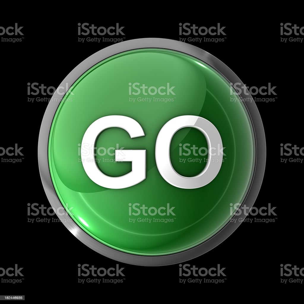 Go Button stock photo