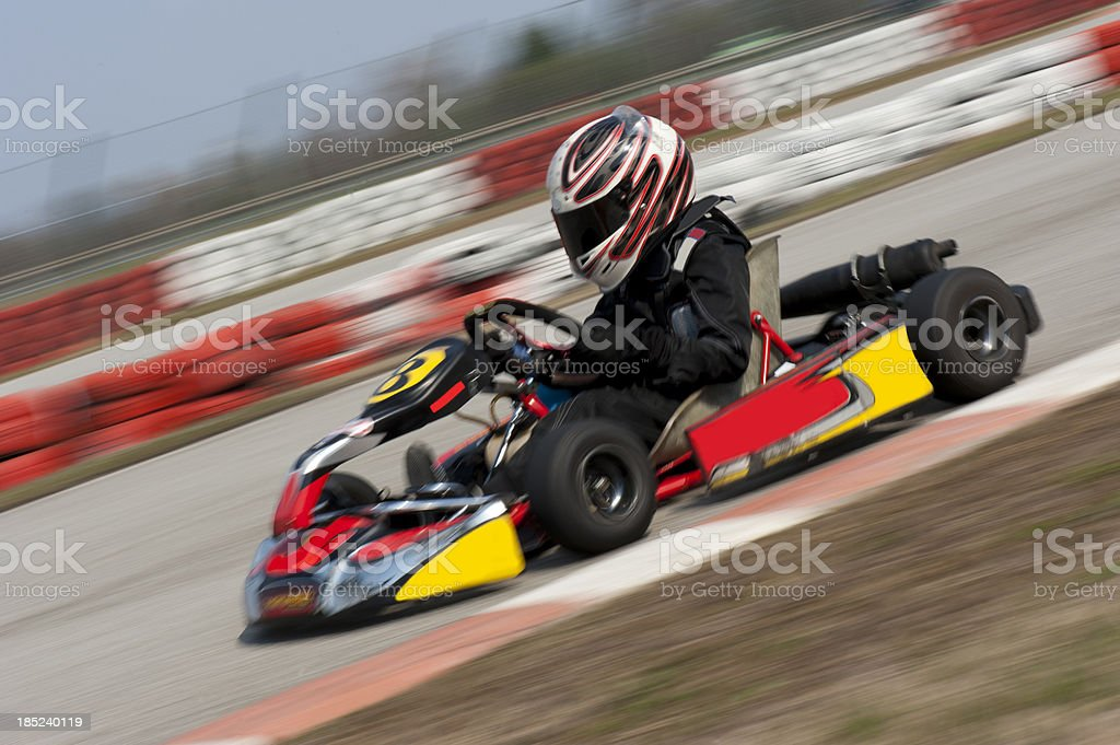 Go cart driving fast royalty-free stock photo