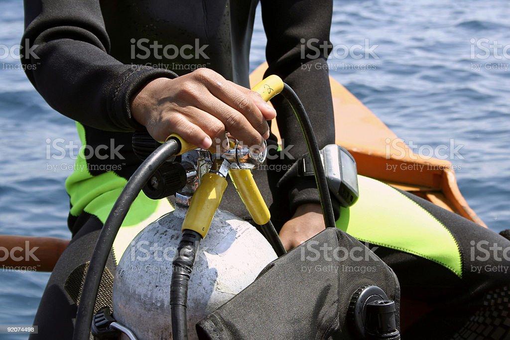 go dive scuba diver philippines stock photo