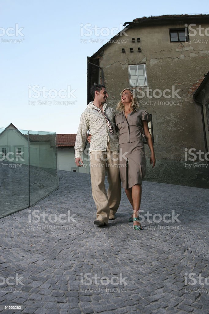 Go for a walk royalty-free stock photo