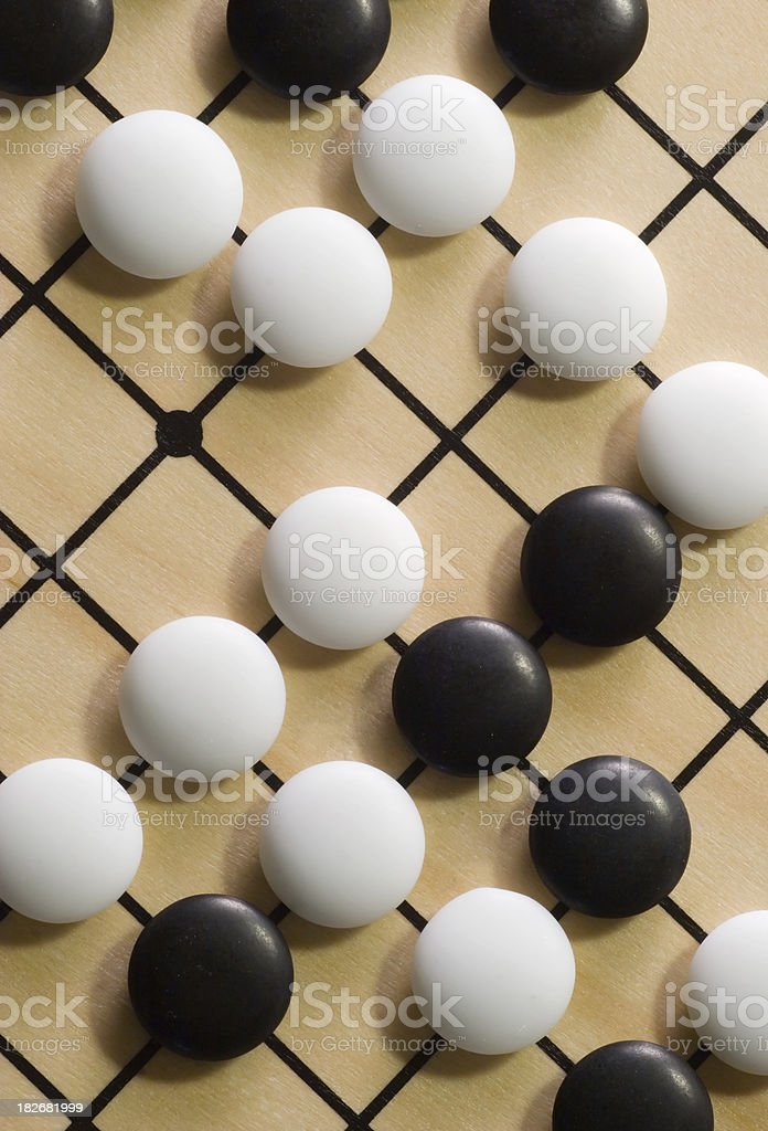 Go Game Board and Pieces stock photo