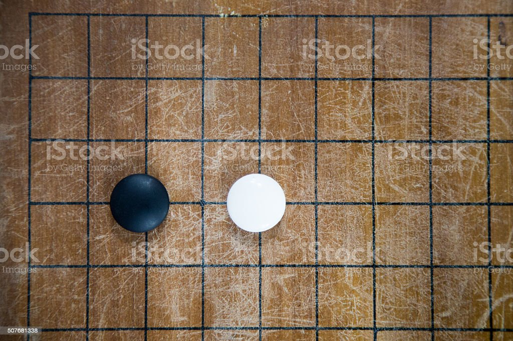 Go game board is a strategy war. stock photo