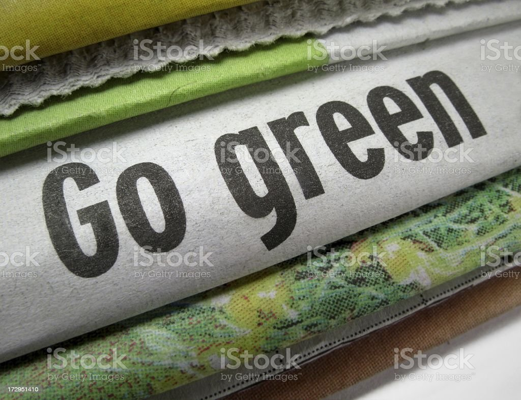 Go Green! royalty-free stock photo