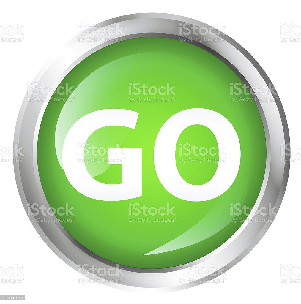 Go icon stock photo
