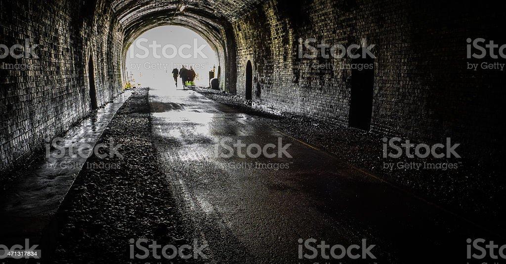 Go into the light stock photo