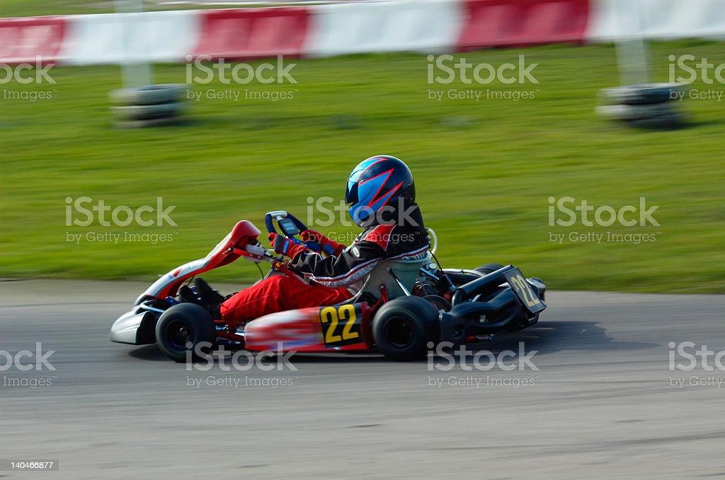 go kart racing stock photo