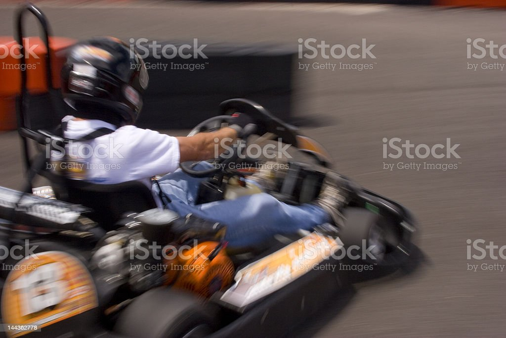 Go Kart Sliding Around Corner royalty-free stock photo