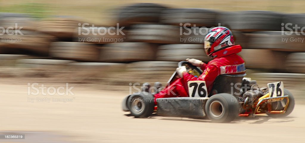 Go Karts On Dirt royalty-free stock photo