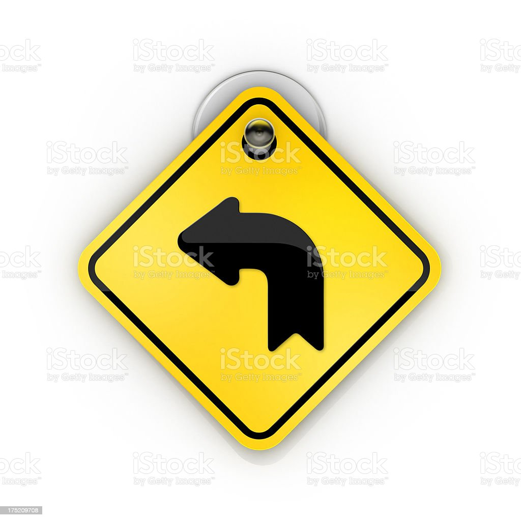go left or back arrow warning Sticky sign stock photo