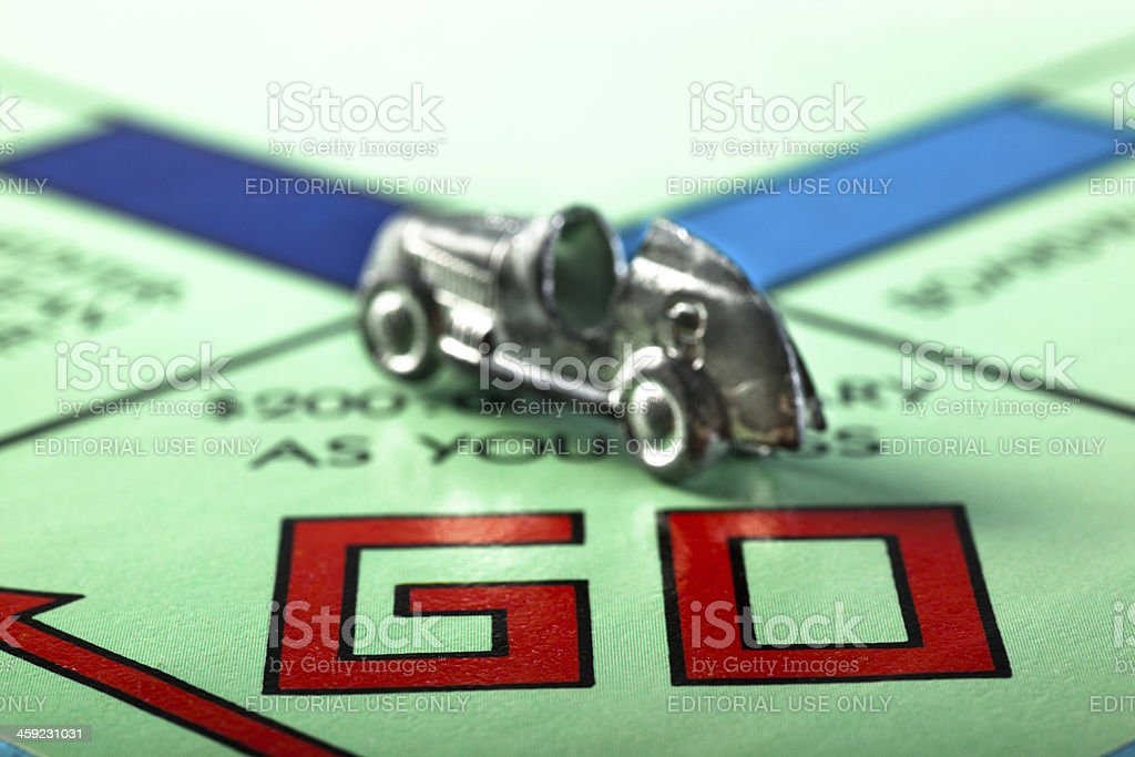 Go Monopoly stock photo