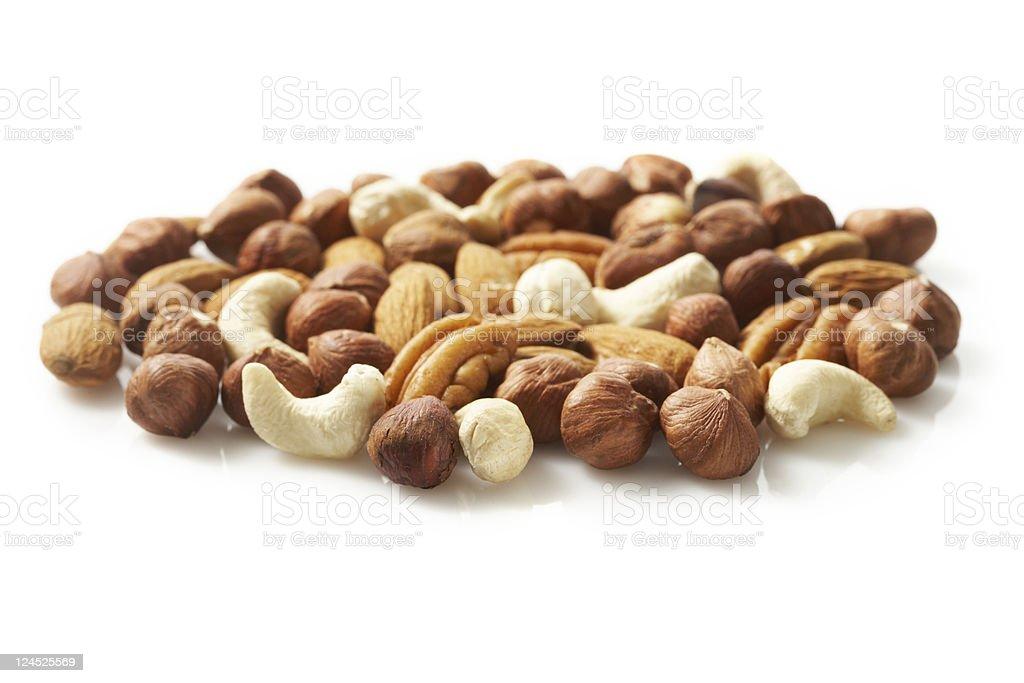 go nuts stock photo