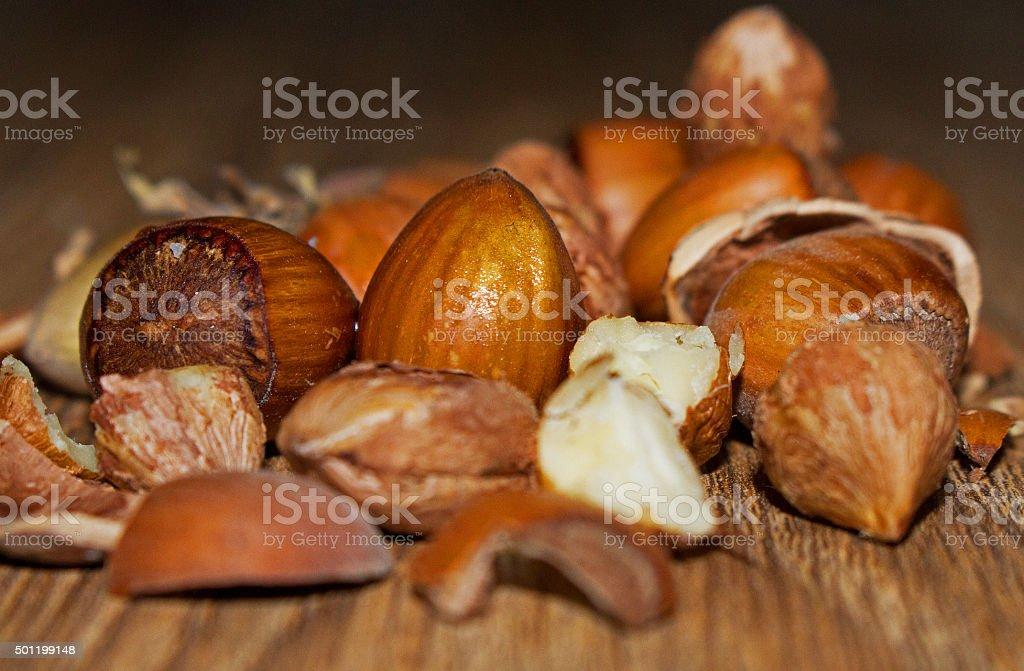 Go nuts. stock photo
