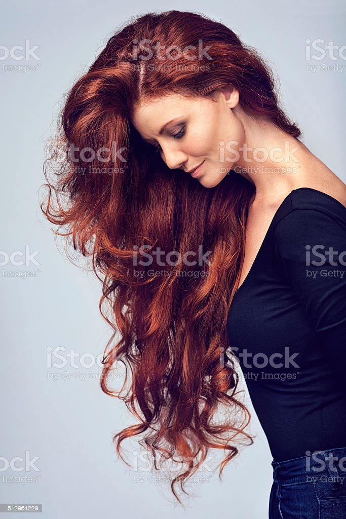 Go on, let your hair down! stock photo