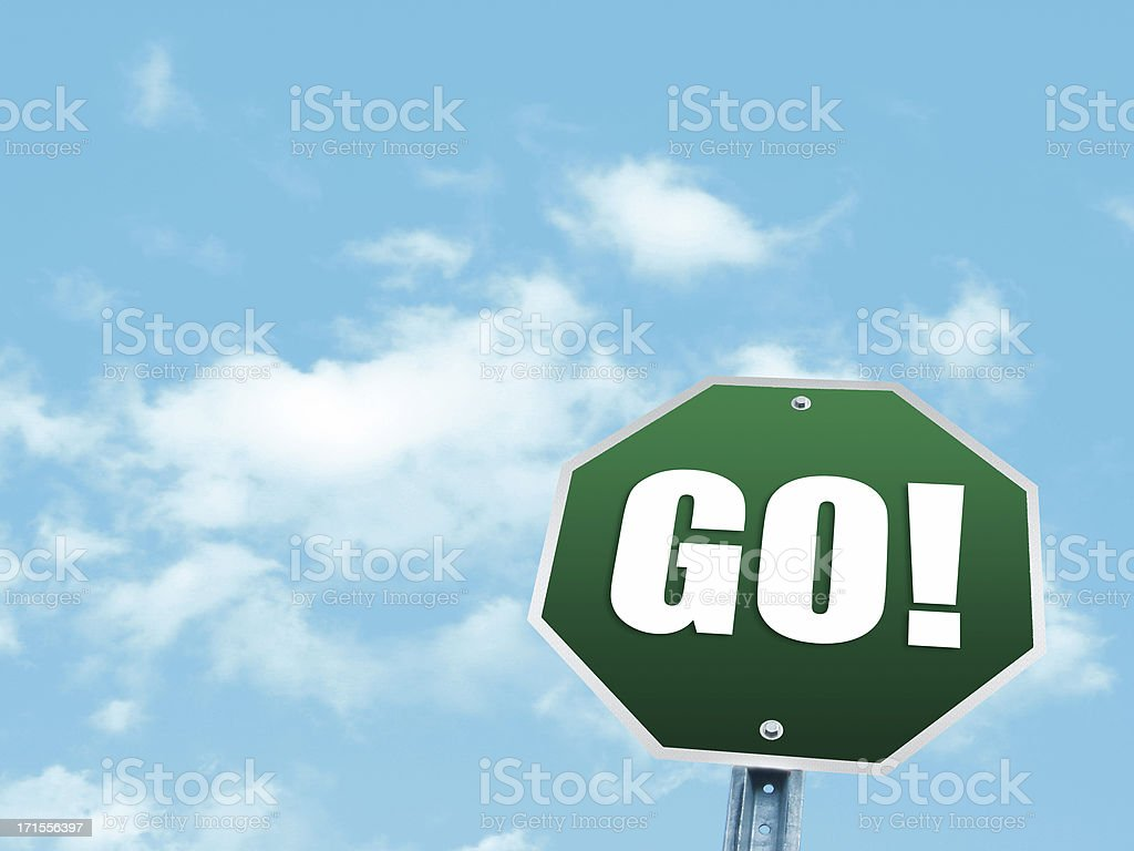 Go!!! royalty-free stock photo