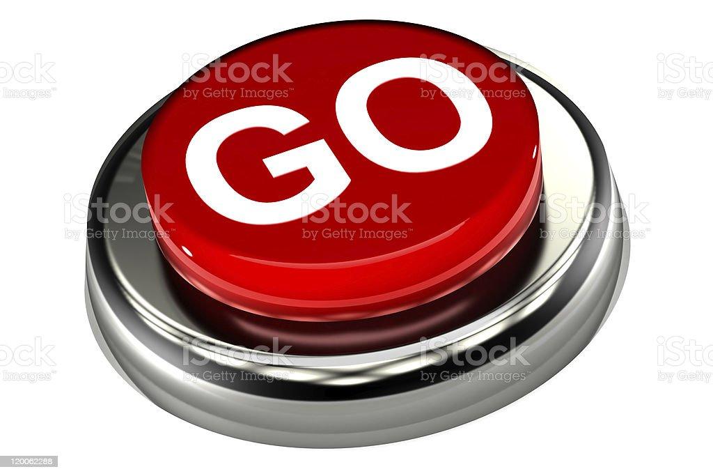 Go Push Button royalty-free stock photo