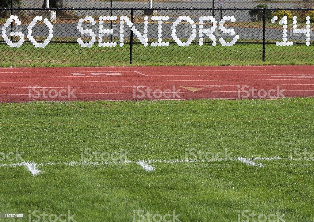 Go Seniors 2014 Happy Graduation stock photo